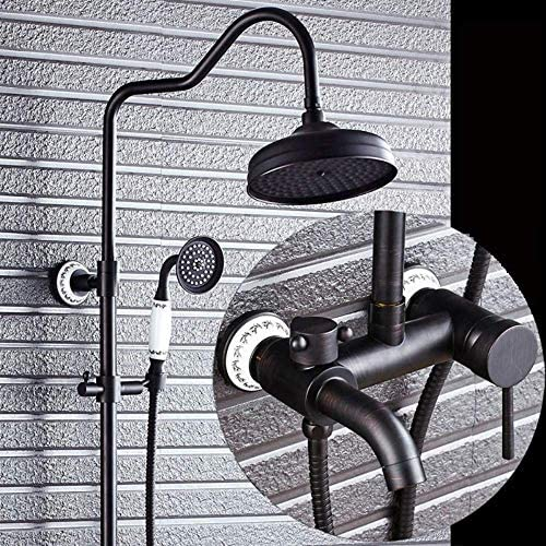 SISHUINIANHUA Badezimmer-Thermostatmischer-Duschventil Geeignet für Menschen zum Duschen Duschkopf und Handbrausensystem [Energieklasse A]