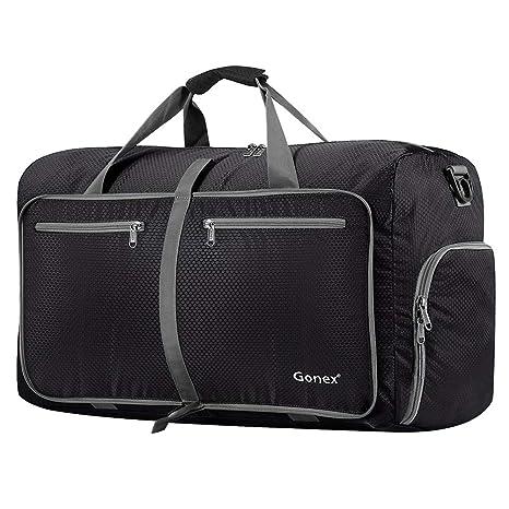 16d02d093e9 Gonex 80L Packable Travel Duffle Bag, Large Lightweight Luggage Duffel ( Black)
