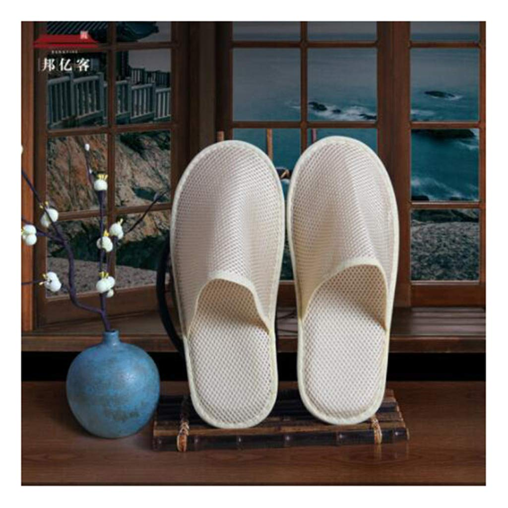 GZZ Disposable Slippers White Hotel Disposable Slippers Men's Slippers Ladies Disposable Home Hospitality Mesh Slippers Four Seasons General Beauty Club Foot Bath Sauna Can Be Washed 2911cm Bottom Th