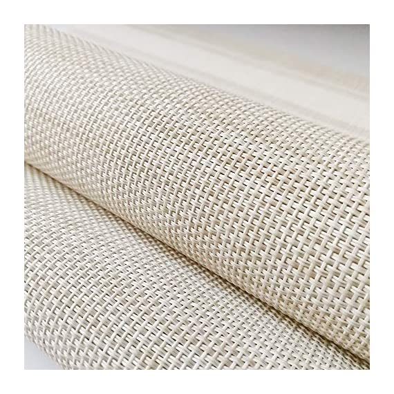 """YOSICHY Table Mats Set of 6 Crossweave Woven Vinyl Placemats Heat Resistant Non-Slip Kitchen Placemats for Dining Table Washable Easy to Clean(White) - Size in:18""""X12""""(45cmX30cm),Set of 4. Composition: 70% PVC, 30% polyester UV protected to resist fading, made of durable and ventilate material for everyday use with long lifespan,perfect for indoor or outdoor use Eco-friendly kitchen table mats, non-stain,washable and easy to clean, dries very quickly, can roll up to store away, placemats can be flattened when put out to use - placemats, kitchen-dining-room-table-linens, kitchen-dining-room - 61EkAwtrbLL. SS570  -"""
