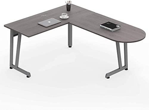 Linea Italia Workstation L-Shaped Corner Easy to Assemble Executive Desk