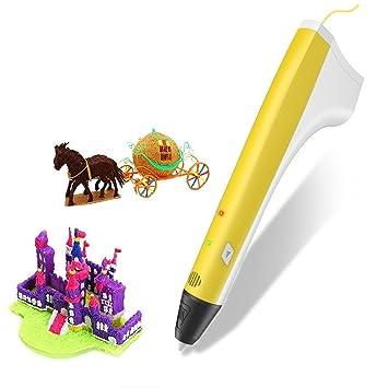 3D Pen, Pluma de Impresión con USB, 3D Lápiz Juguetes Inteligentes ...