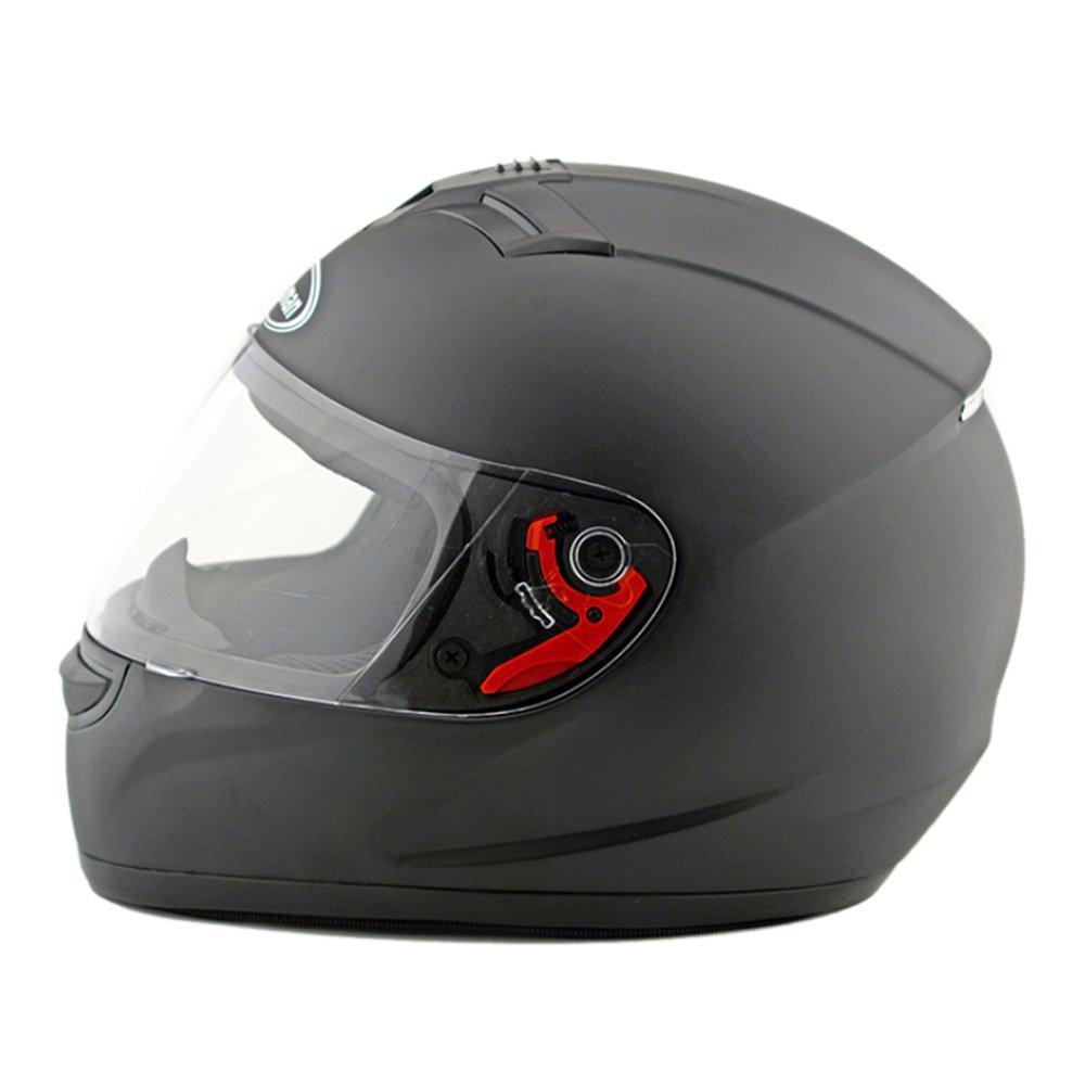 Kangzy Motorrad Motor Bike Scooter Sicherheit Helm 168 Dull Schwarz