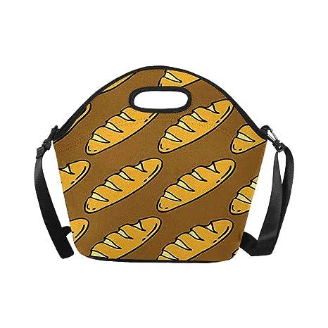 113e50b14360 Amazon.com: InterestPrint Funny Bread Doodle Pattern Food Theme ...
