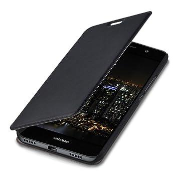 kwmobile Funda para Huawei Y6 (2015) - Carcasa para móvil de Cuero sintético - Case Plegable en Negro