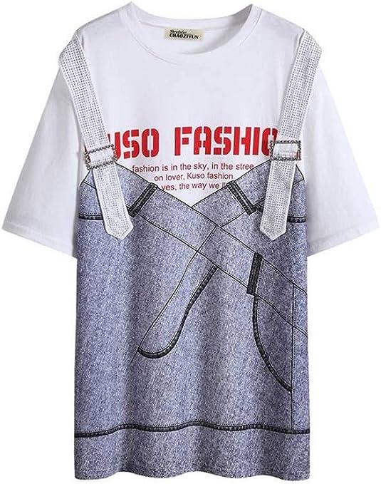 O&YQ Camiseta Grande para Mujer, Manga Corta, Manga Larga, Media ...