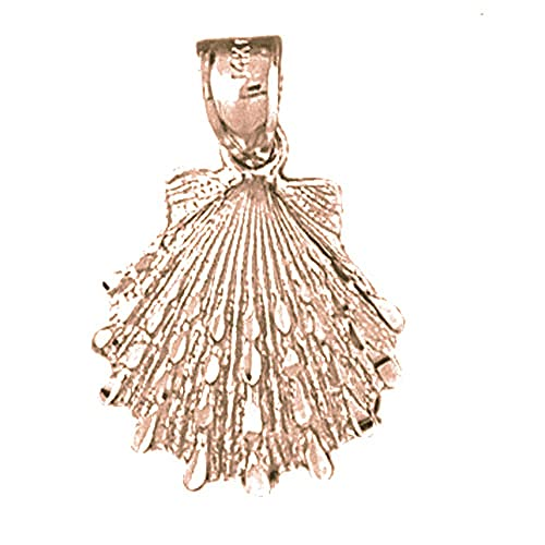 Jewels Obsession Shell Necklace 14K Rose Gold-plated 925 Silver Shell Pendant with 18 Necklace