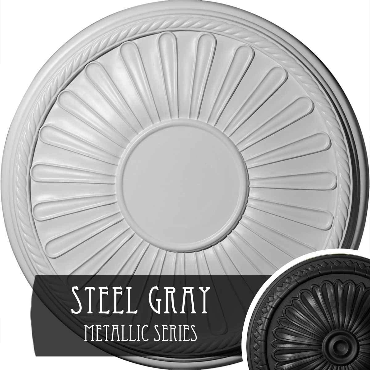 Ekena Millwork CM22LNSGS Ceiling Medallion, Steel Gray