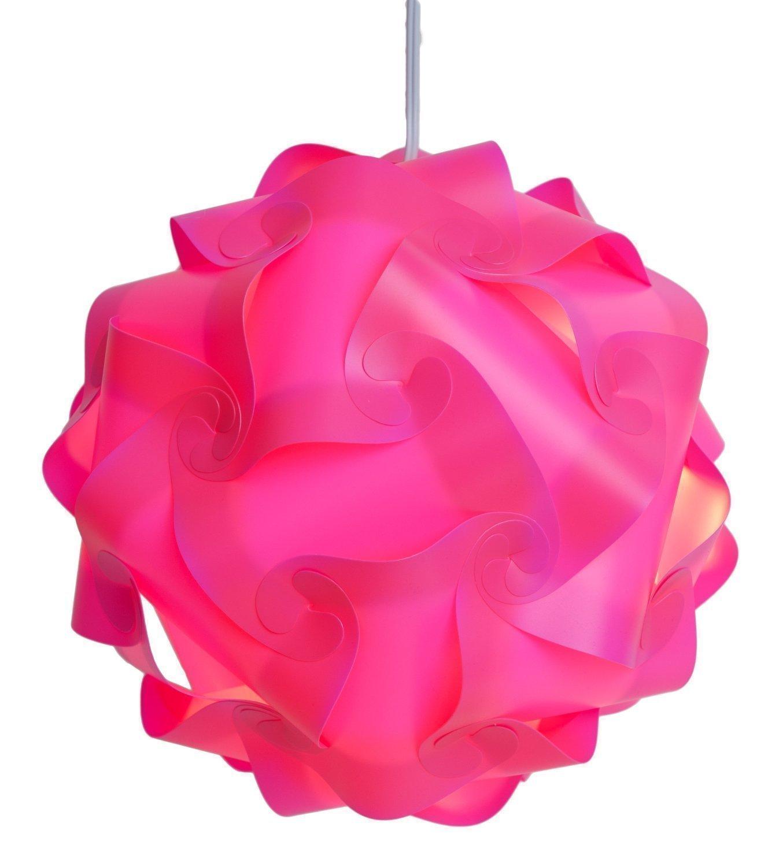 Zulux Puzzle Lamp Shade / Jigsaw IQ Light Plafonnier ombre Shade moderne Pendentif ¨¦clairage D¨¦coration Salon Chambre Hall etc (Blanc) AJ02WHITE