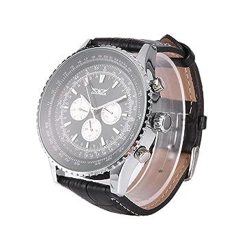 Caja De Acero Jaragar Multifuncional Hombres Reloj Automático Inoxidable Auto Mecánico Fecha Reloj De Pulsera Volver Hueco Dial Grande del Reloj: Amazon.es: ...