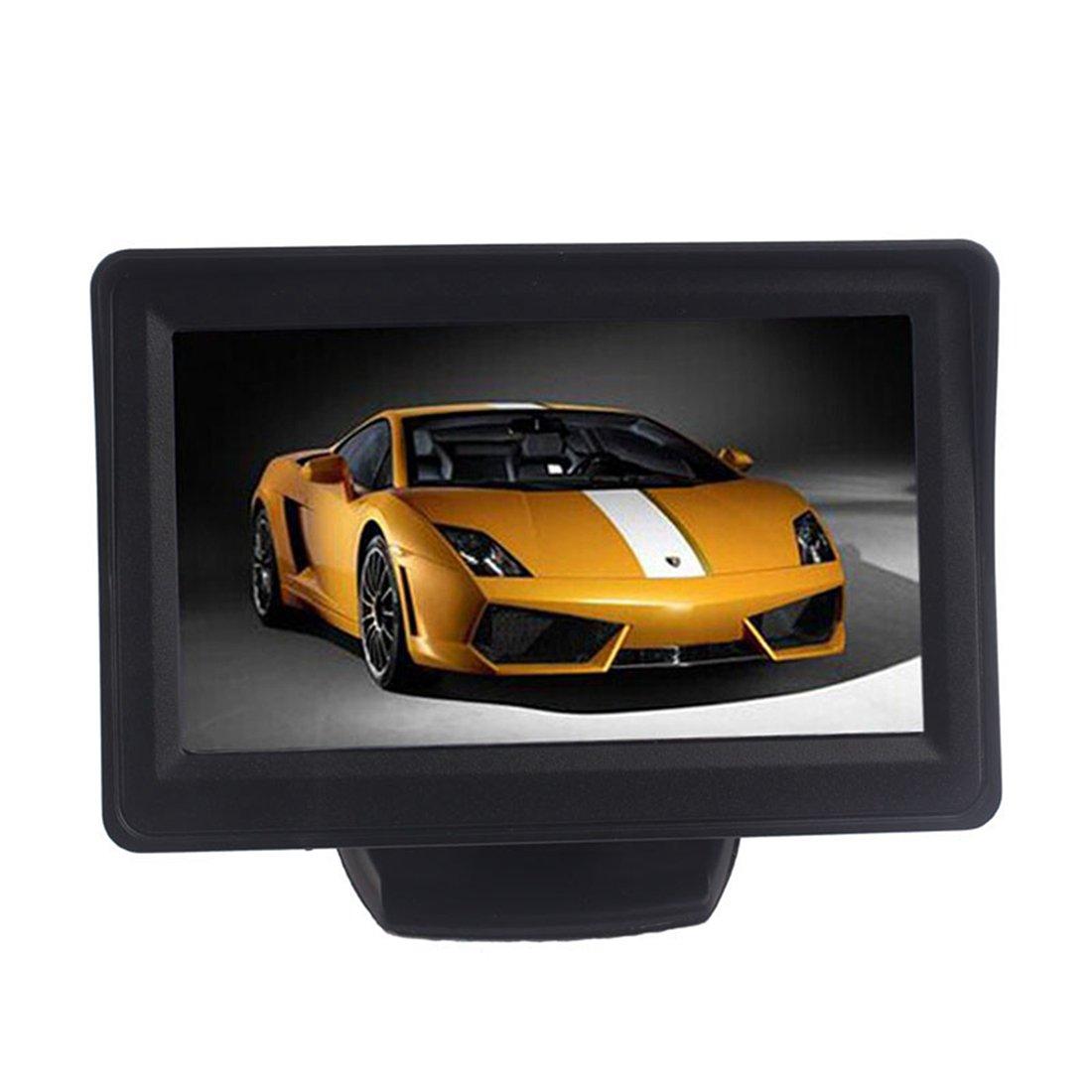 marcha atr/ás Vista posterior de copia de seguridad CMOS c/ámara euzeo 4,3/pulgadas coche TFT LCD Monitor Espejo
