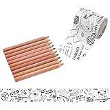 マークス ぬり絵ができるマスキングテープ 色鉛筆付セット 「マステ」 Nina Chakrabarti MST-ZC03-C