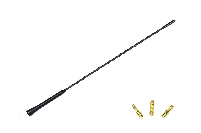 GELAN® KfZ Autoantenne Dachantenne Antenne ANT/15S 650600- 41 cm inkl. spezial Bolzen M4 / M5 / M6 Adapter innenge. - M6 Radioantenne UKW AM / FM
