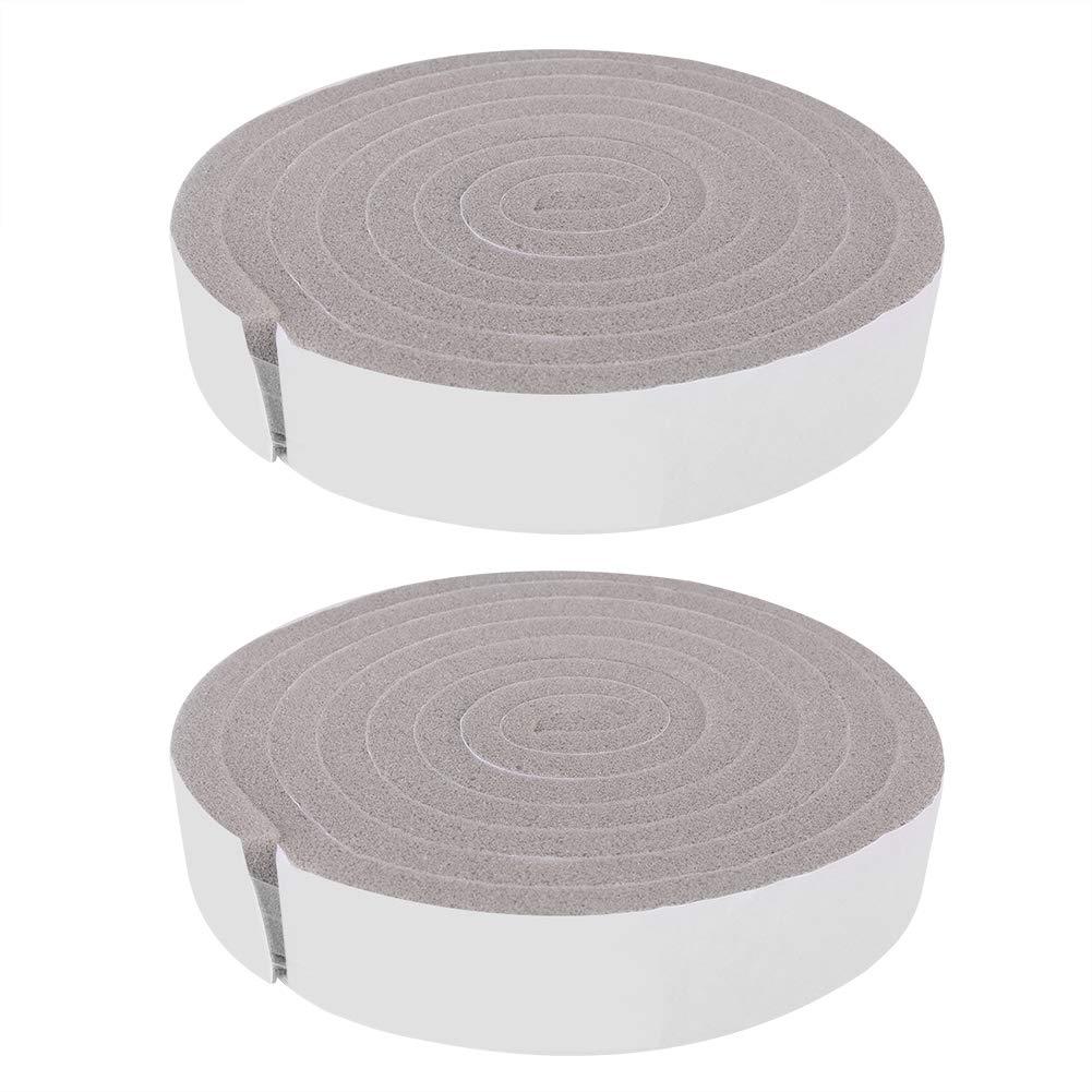Boquite Foam Sticky Strip, 2pcs Door Window Sponge Draught Excluder Weather Seal Insulation Tape