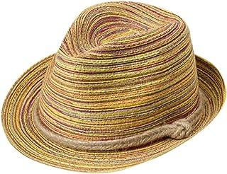 SoonerQuicker Chapeau de plage pliable à rayures pour femmes colorées Summer Boho Lady bonnets et chapeaux Bobs Cagoules Capelines Casquettes Baseball souples visières Chapeaux western Panamas