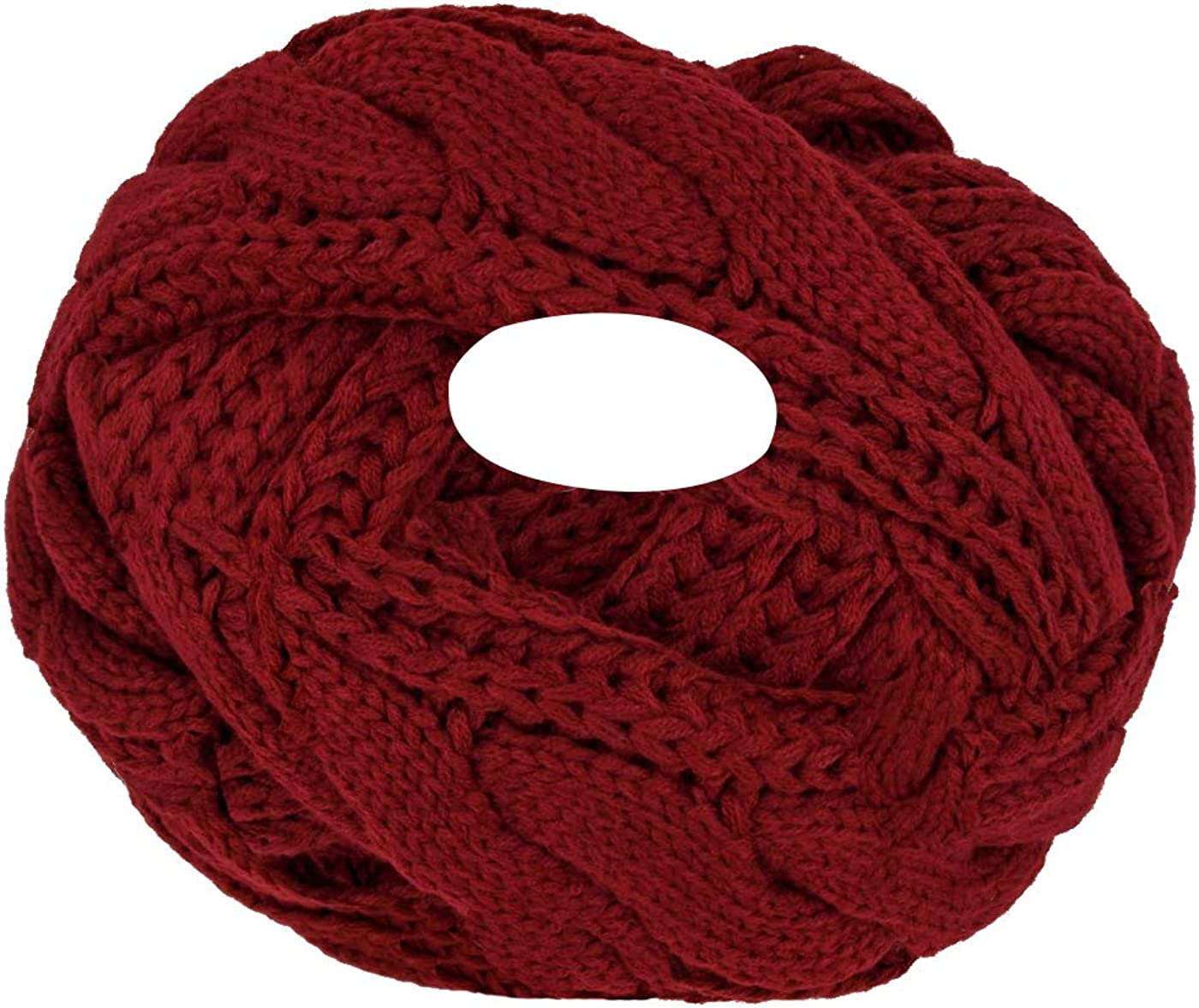 Luna et Margarita Bufanda que hace punto del círculo de la torcedura del gancho de la bufanda 8 colores de invierno hombre de las mujeres