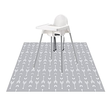"""Splat Mat for Under High Chair For Baby /& Kid 51"""" Washable And Waterproof"""