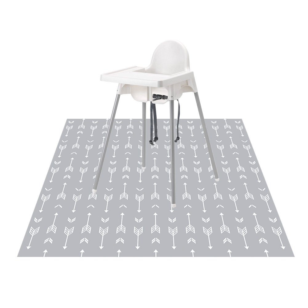 """51"""" Splat Mat for Under High Chair/Arts/Crafts, Wo Baby Washable Spill Mat Water-resistant Anti-slip Floor Splash Mat, Portable Play Mat and Table Cloth"""