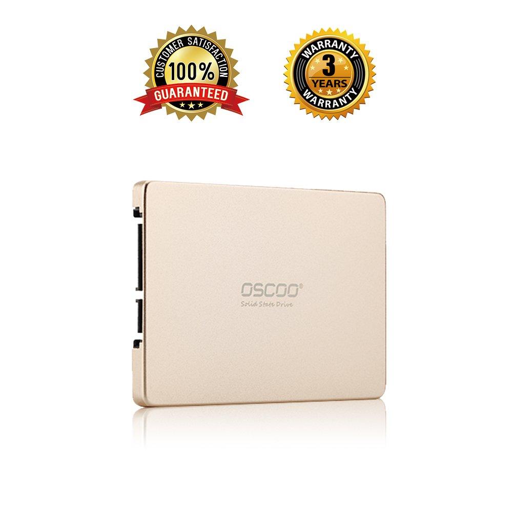 OSCOO 256GB SSD - up to 539 MB/s, 2.5 Inch SATA III SSD, 6Gb/s Internal Solid State Drive for Desktop PC Laptop, MacBook - (256GB, 2.5'', SATA 3)