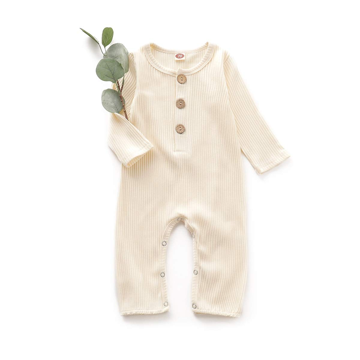 Simplee kids Baby Infant Gender Neutral Long-Sleeves Jumper Romper Onesies Outfit for 0-18 Months Baby Girl and Boy
