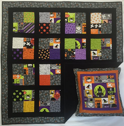 Halloween Quilt or Wall Hanging with Free Pillow Case -