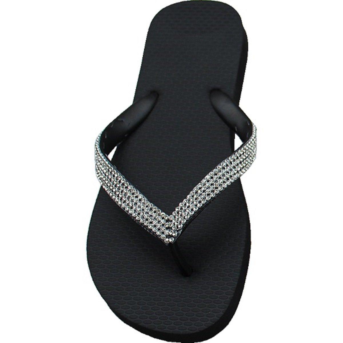 Designer Luxus Flip Flops-Chanclas Sandale Exclusivas Simone Herrera-Diamond Line-Aida-Riemchen Sandale Flops-Chanclas Zehentrenner e54224