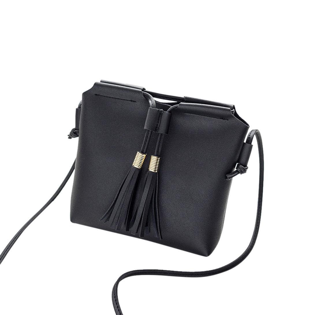 Amazon.com: FDelinK Fashion Womens Saddle Bag Purses Crossbody Shoulder Bag Messenger Bag with Tassel (Black): Clothing