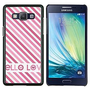 Planetar® ( Amor Blanco Rosa británica rayas texto ) Samsung Galaxy A5 A5000 Fundas Cover Cubre Hard Case Cover