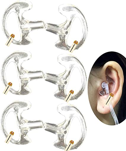 Ear Mold Mould Right Side for Acoustic Tube Headset