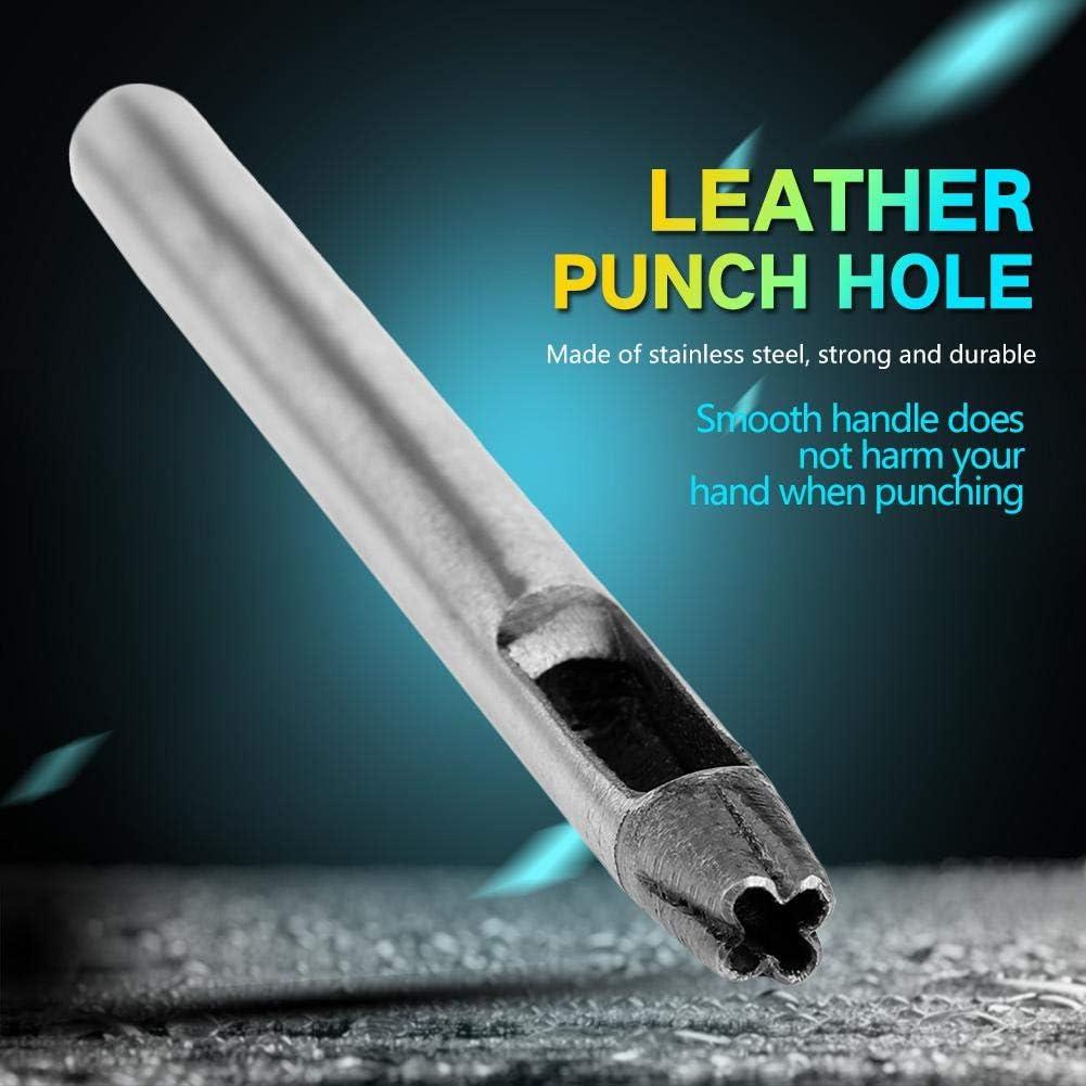5mm 18pcs Outil de Trou de Poin/çon de Fleur Outil en Cuir pour Perforateur de Fleur en Acier Inoxydable