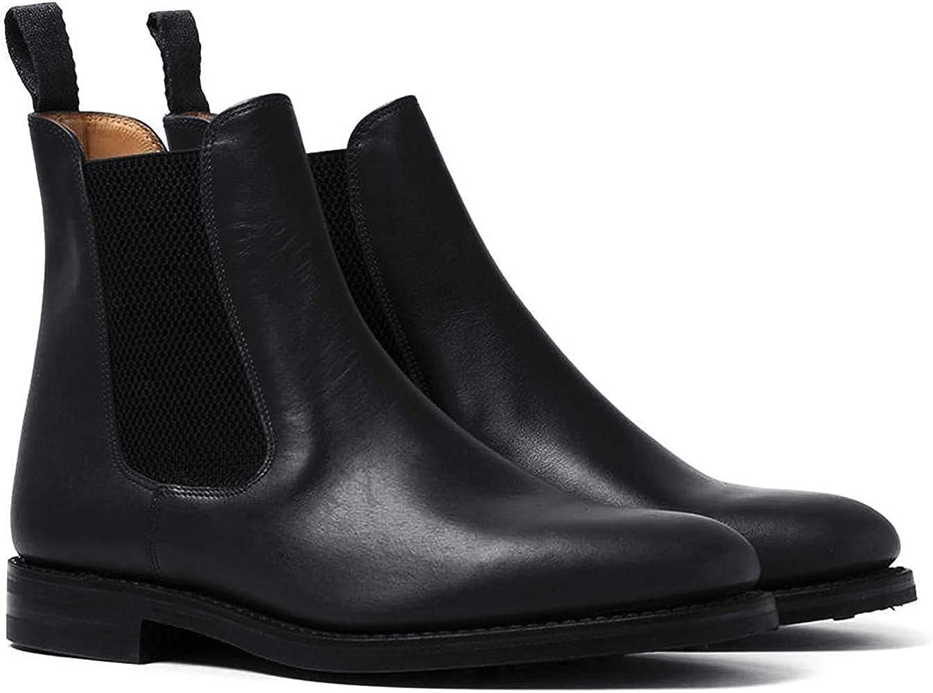 Loake Mens Blenheim Leather Black Boots