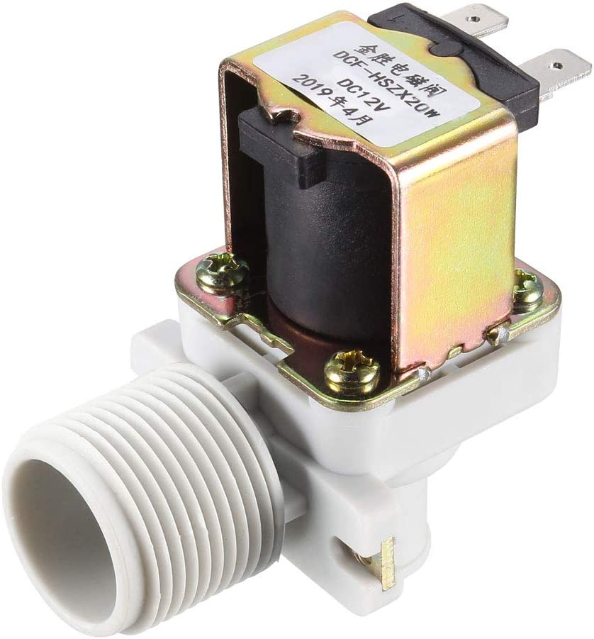 DC 12V Normally Closed NC Electric Solenoid Valve Air Gas Water Leak Switch L