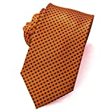 Abundance New Woven Microfiber Classic Men'S Business Tie Plaid Necktie Solid Ties (Orange)