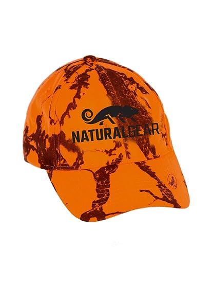 Amazon.com   Natural Gear Blaze Camo Logo Ball Cap   Hunting Hats ... 2197a307ae3