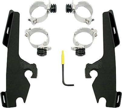 Memphis Shades Trigger-Lock Mounting Kit Black//Sportshields for 08-15 Yamaha XV19CS