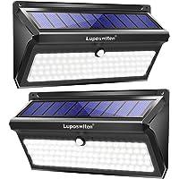 Luposwiten 100 LED Solar Lights Outdoor, 2000 Lumens Waterproof Wireless Solar Motion Sensor Lights Light with 125…