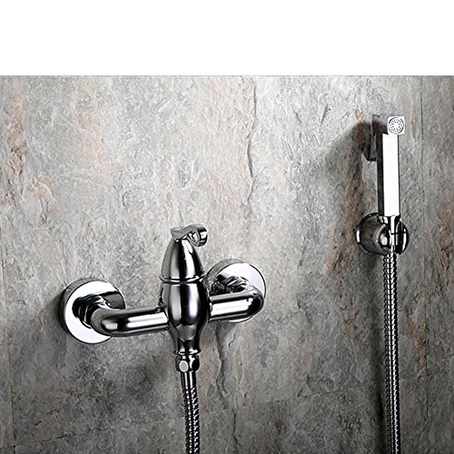 Continental hot and cold bidet/Small gun full copper shower/Flush sprinkler packages/Mixing valve faucet-C 80%OFF