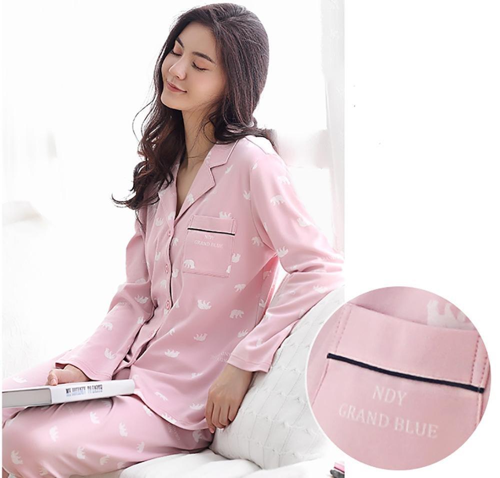 mujer algodón conjunto 7820 conjunto de pijamas señoras 2 piezas ...