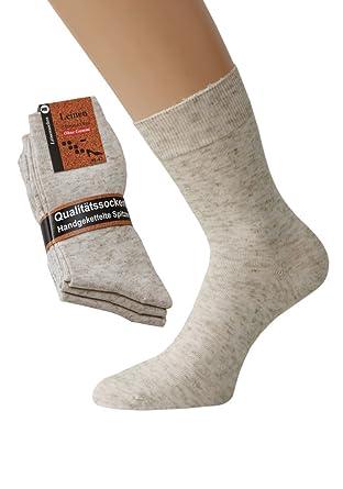 32f89317e9ece Damensocken ohne Gummi bunt oder weiß Baumwolle Spitze Handgekettelt, 10  Paar