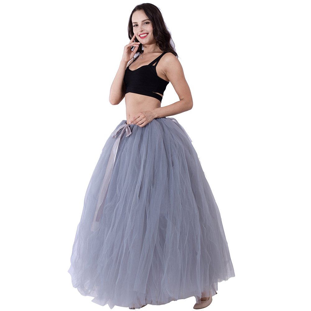 Party Train Adult Puffy Long Tutu Tulle Skirt 100cm Floor Length Women Wedding Skirts by Party Train (Image #1)