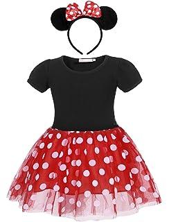 Fuxia - talla 120-5 años - vestido - disfraz - minnie - mouse ...