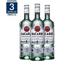 Ron Bacardi Blanco - 980 ml (3 botellas a precio especial)