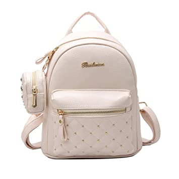 733bbe3cdefdf gfjhgkyu Nützliche Büro Artikel Lady Kunstleder Tasche Mini Rucksack für Jugendliche  Schule Reise Rucksack – Schwarz