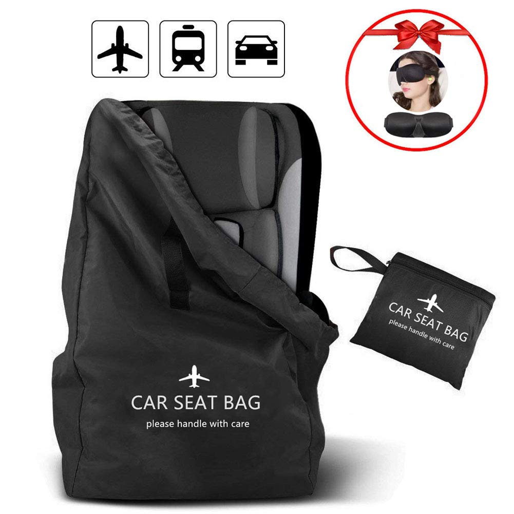 Lenture Car Seat Travel Bag, Universal Size Car Seat Cover Backpack Bag with Shoulder Straps for Stroller, Waterproof Nylon Fabric Carseat Carrier for Airport Gate Check-in by Lenture