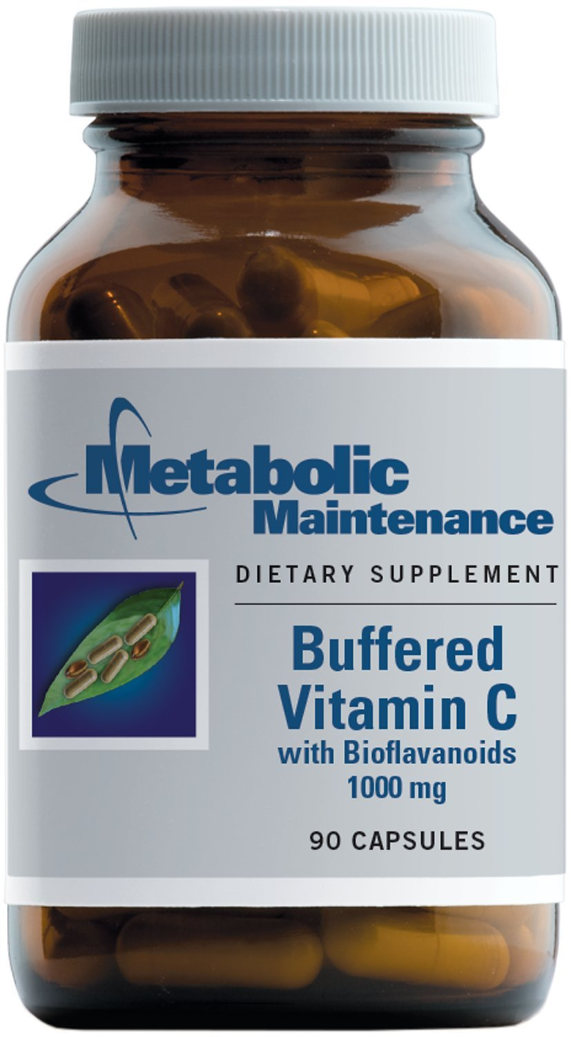 Metabolic Maintenance - Vitamin C - 1000 mg Buffered for Lower Stomach Acidity, 90 Capsules