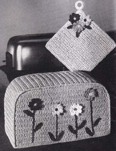 - Toaster Cover & Pot Holder Crochet Pattern Dinette Dress-Ups