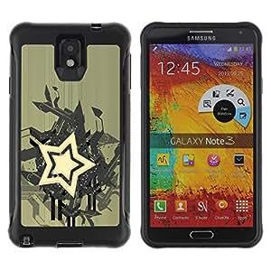 Be-Star único patrón Impacto Shock - Absorción y Anti-Arañazos Funda Carcasa Case Bumper Para SAMSUNG Galaxy Note 3 III / N9000 / N9005 ( Star Abstract Art )