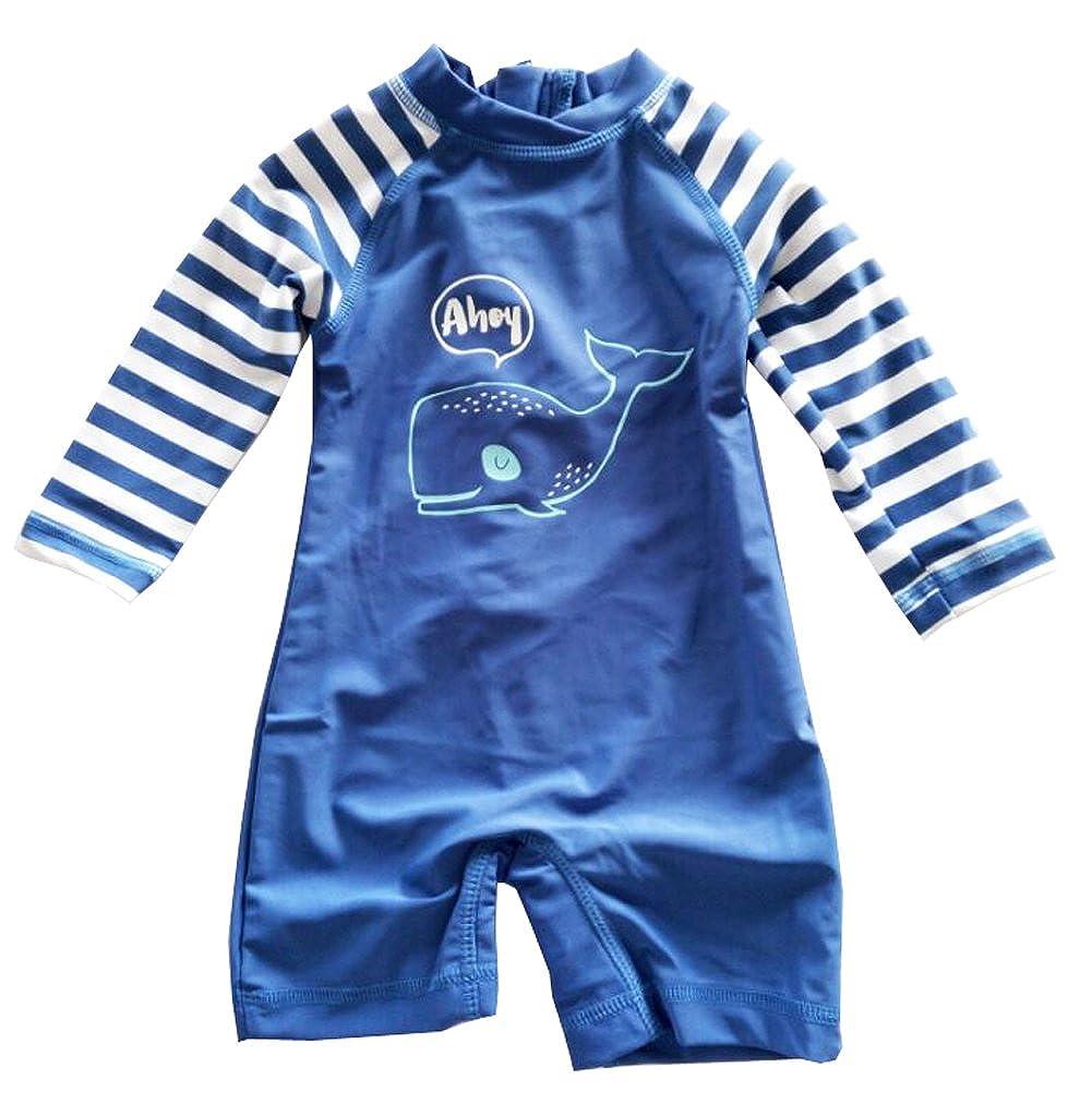 eKooBee Newborn Infant Boys Sunsuits Dophin Swimwear