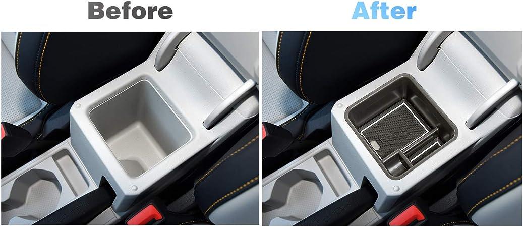 Lfotpp T Cross Suv Handschuhfach Armlehne Aufbewahrungsbox Center Console Armrest Storage Box Innen Weiß Auto