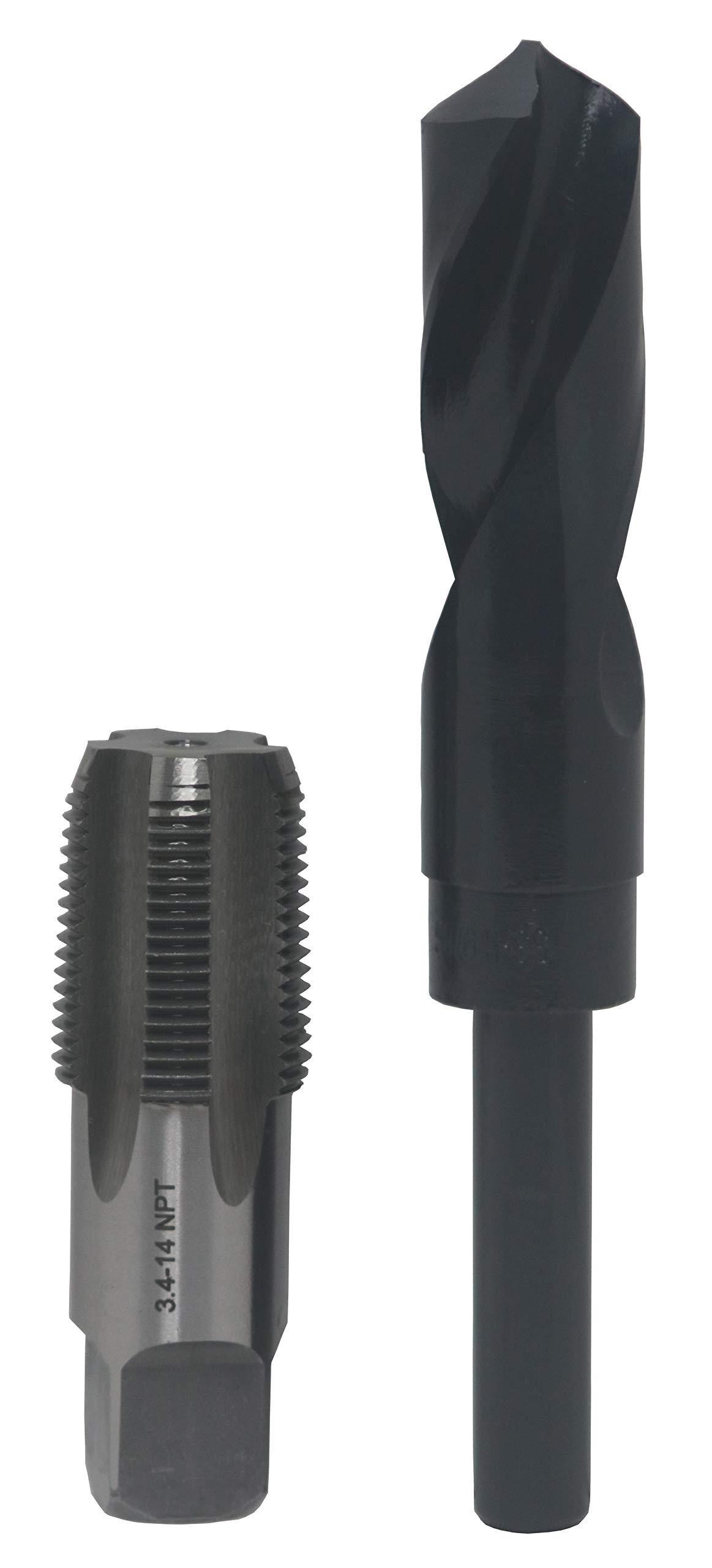 Drill America 3/4'' Carbon Steel NPT Pipe Tap and 59/64'' High Speed Steel Drill Bit Set, POU Series by Drill America